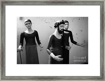 Stripped Saints Framed Print by Gaspar Avila