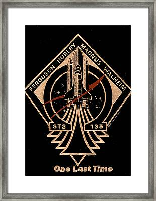 Sts-135 One Last Time Framed Print by Jim Ross