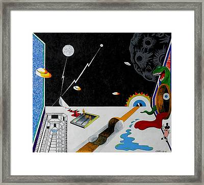 Stuck In Time And Space Framed Print by One Rude Dawg Orcutt