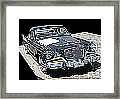 Studebaker Golden Hawk 1 Framed Print by Samuel Sheats