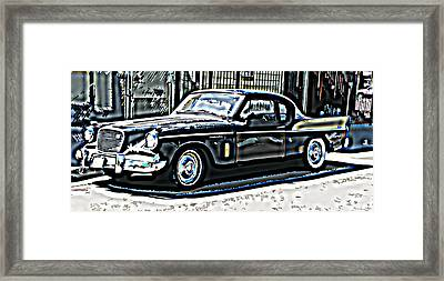 Studebaker Golden Hawk 2 Framed Print by Samuel Sheats