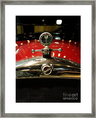Studebaker Hood Ornament Framed Print by Wingsdomain Art and Photography