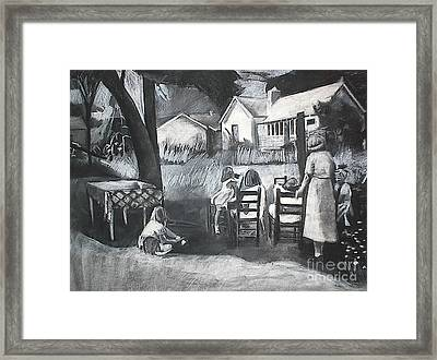 Study For Ladies In Waiting Framed Print by Deb Putnam