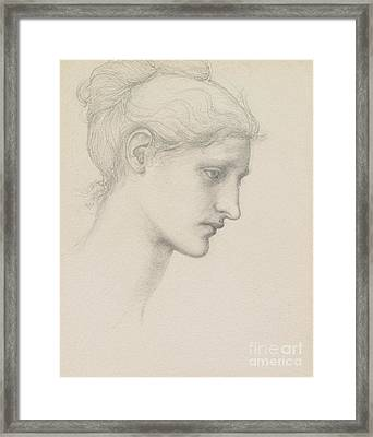 Study For Laus Veneria Framed Print by Sir Edward Burne Jones