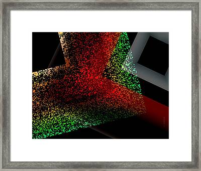 Study Of Texture In Geometric Design Framed Print by Mario Perez