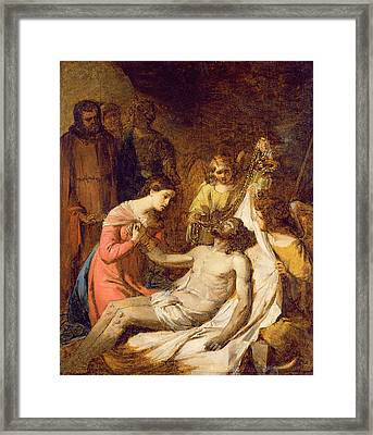 Study Of The Lamentation On The Dead Christ Framed Print by Benjamin West