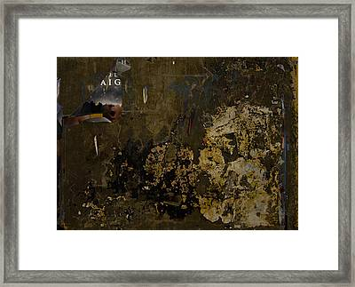 Subtext   Aig Framed Print by Kenneth rst Vick
