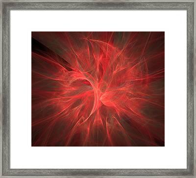 Subtle Aura-fractal Art Framed Print by Lourry Legarde