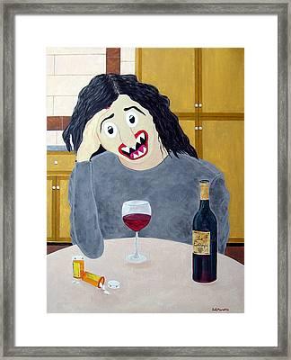 Suburban Divorcee Framed Print by Sal Marino