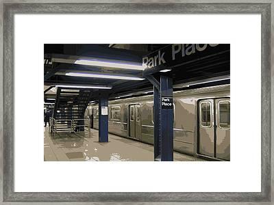 Subway Color 16 Framed Print by Scott Kelley