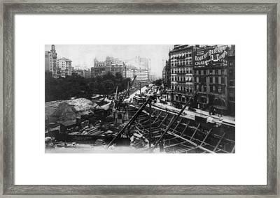 Subway Construction, Rapid Transit Framed Print by Everett