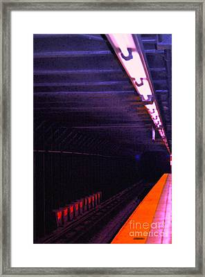 Subway Silence Framed Print by Gwyn Newcombe