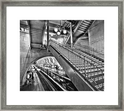 Subway Framed Print by Stephanie Benjamin