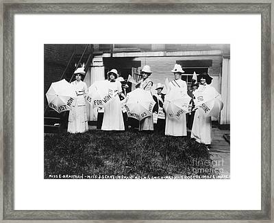 Suffragettes, 1912 Framed Print by Photo Researchers