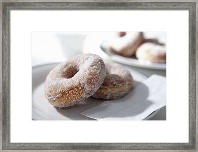 Sugar Coated Donuts Framed Print by Bruce Law