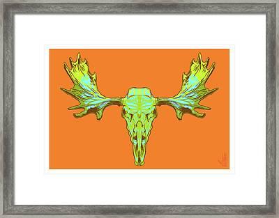 Sugar Moose Framed Print by Nelson Dedos Garcia