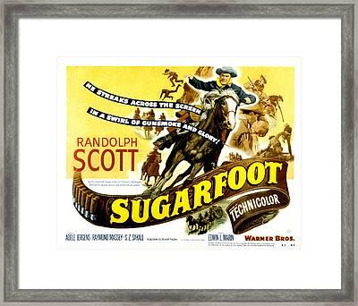 Sugarfoot, Randolph Scott, 1951 Framed Print by Everett