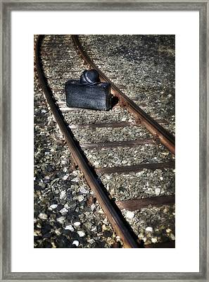 Suitcase And Hats Framed Print by Joana Kruse
