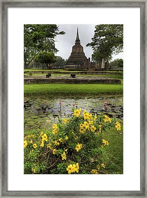 Sukhothai Historical Park Framed Print by Adrian Evans