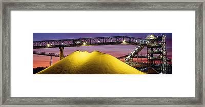 Sulphur Stockpiles Framed Print by David Nunuk