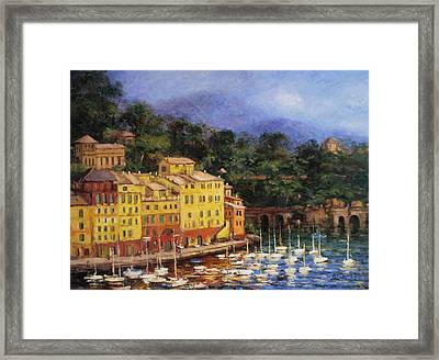 Summer Afternoon In Portofino Framed Print by R W Goetting