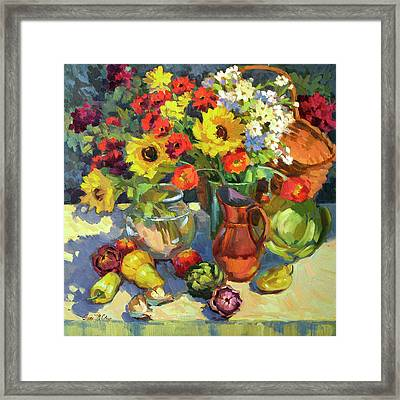 Summer Colors Framed Print by Diane McClary