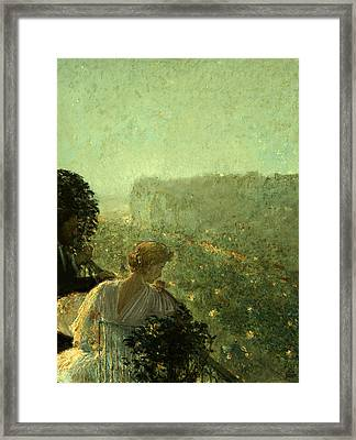 Summer Evening In Paris Framed Print by Childe Hassam