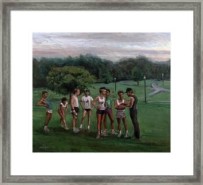 Summer Evening Meet Framed Print by Sarah Yuster