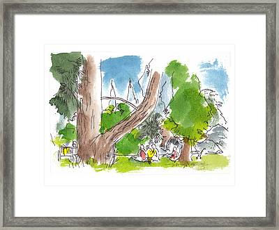 Summer In The Garden Framed Print by Marilyn MacGregor