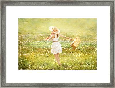 Summer Picnic  Framed Print by Cindy Singleton