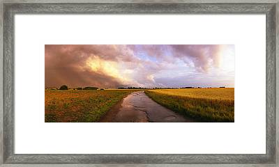 Summer Storm Raf Lavenham Framed Print by Jan Faul