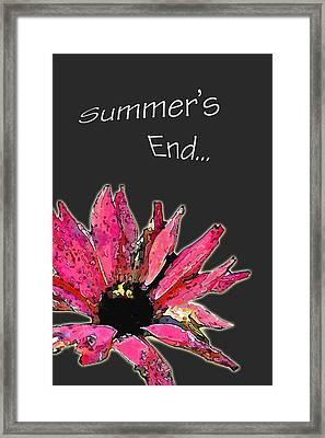 Summer's End Framed Print by Larry Bishop