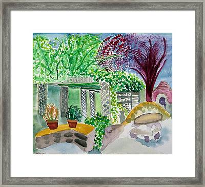 Summer's Past Farms Framed Print by Charlotte Hickcox