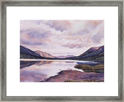 Summit Lake Evening Shadows Framed Print by Sharon Freeman