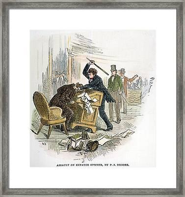 Sumner And Brooks, 1856 Framed Print by Granger