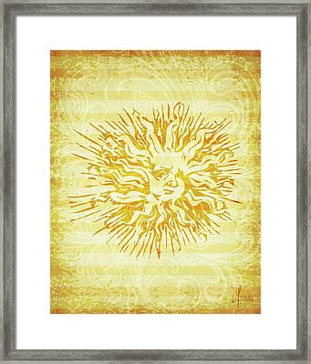 sun Framed Print by Adrienne Stiles