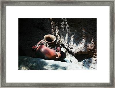 Sun Dappled Pottery Framed Print by Jeff Swan