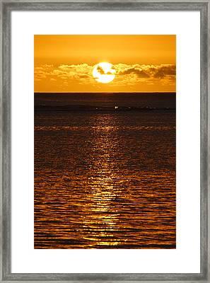 Sun Over Horizon Framed Print by Steeve Dubois
