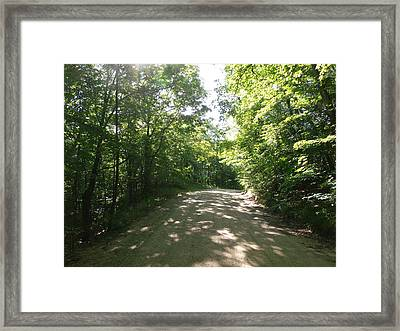 Sun Speckled Dirt Road Framed Print by Brian  Maloney