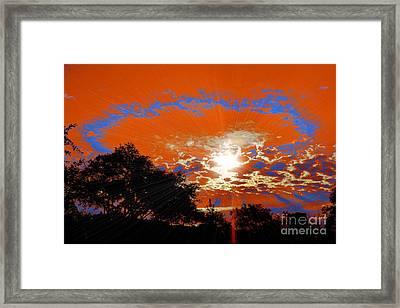 Sunburst Framed Print by RJ Aguilar