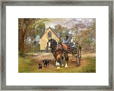 Sunday Driver Framed Print by Trudi Simmonds