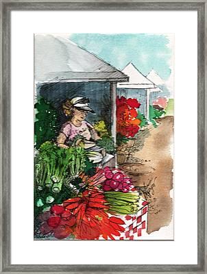 Sunday Market - Second Street Framed Print by Judi Nyerges