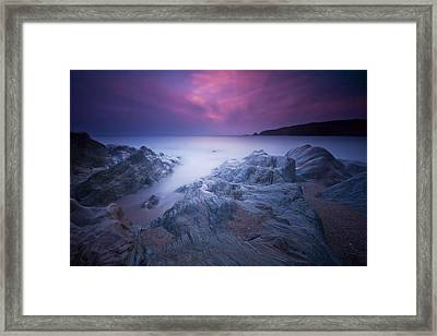 Sundown At Leas Foot Framed Print by Mark Leader