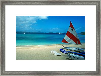 Sunfish On The Beach Framed Print by Kathy Yates