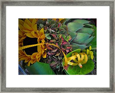 Sunflower And Thistle  Framed Print by Mary Machare