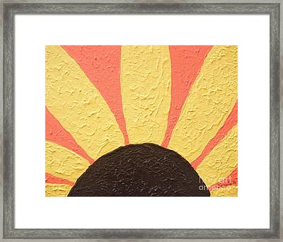 Sunflower Burst Framed Print by Jeannie Atwater Jordan Allen