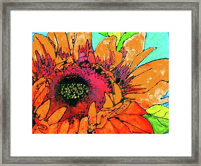 Sunflower Hues Framed Print by Laura  Grisham
