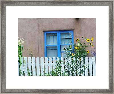 Sunflower Window  Framed Print by Vicki Lomay