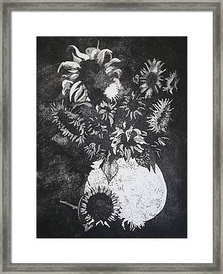 Sunflowers Framed Print by Sonja Guard