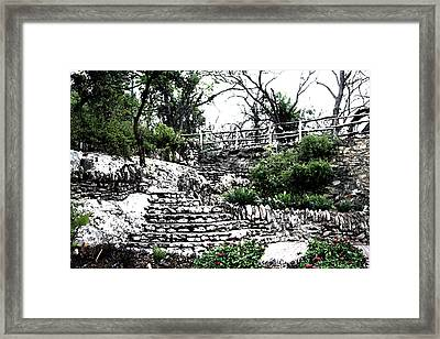 Sunken Gardens Collection I Framed Print by Diana Gonzalez